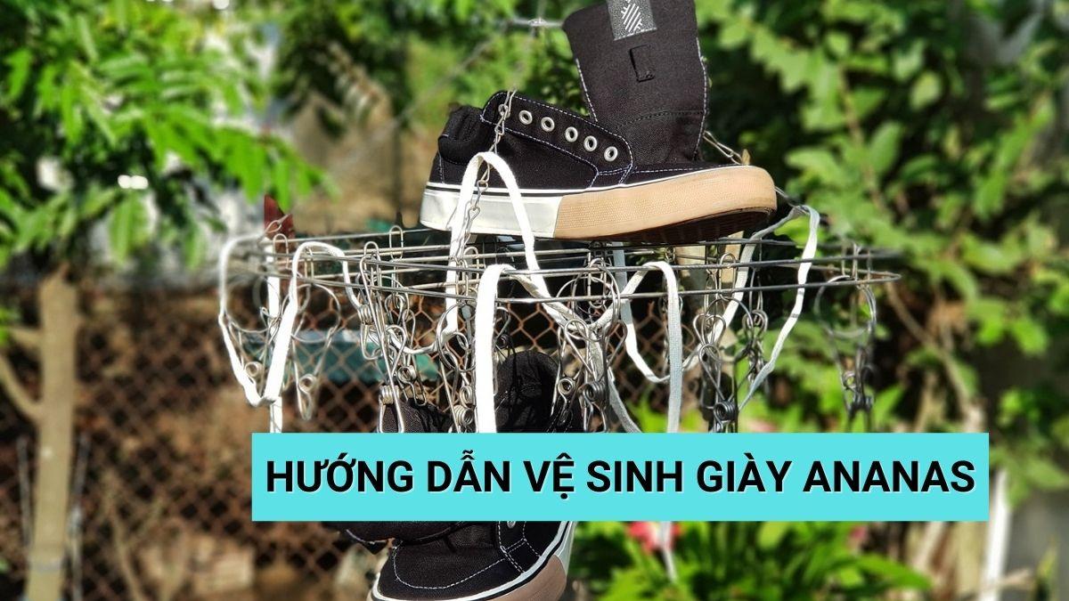 cách vệ sinh giày ananas
